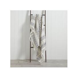 image-Dhadit 130cm x 150cm Throw Grey and White