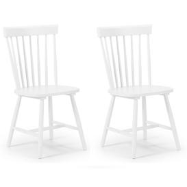 image-Julian Bowen Torino White 6 Slat Dining Chair Pair