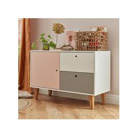 image-Vox Concept Low Chest of Drawers - Yellow