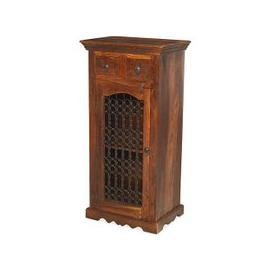 image-Zander Wooden Hi-Fi Cabinet In Sheesham Hardwood With 1 Door