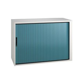 image-Campos Low Tambour Unit (Light Blue), Light Blue, Free Next Day Delivery
