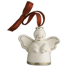 image-Christmas Angel Miniature Hanging Figurine Belleek Home