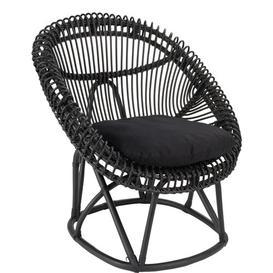 image-Palekythro Tub Chair Bay Isle Home Colour: Black