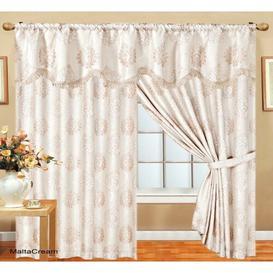 image-Dortch Pencil Pleat Room Darkening Thermal Curtains Astoria Grand Colour: Cream/Beige, Panel Size: Width 228cm x Drop 274cm