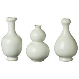 image-Cotteret Mini Vases Set of Three - Porcelain White
