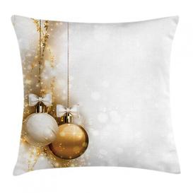 image-Cieran Christmas New Years Ribbon Outdoor Cushion Cover Ebern Designs Size: 40cm H x 40cm W