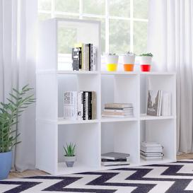 image-Dartmouth Cube Bookcase Ebern Designs Colour: Glossy White