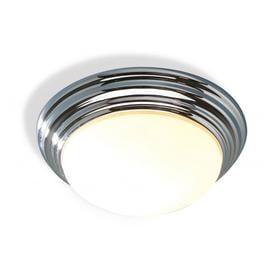 image-Dar BAR5050 Barclay Large Flush Chrome Bathroom Ceiling Light IP44