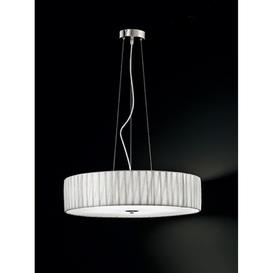 image-F2284/5 Large Satin Nickel and Silver Ceiling Pendant