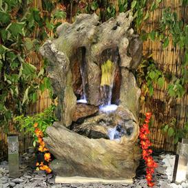 image-Sanjeev Resin Water Feature with Light Sol 72 Outdoor Power Source: Solar
