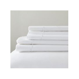 image-Savoy Fitted Sheet, White, Super King