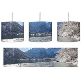image-Winter Lake Landscape 1 Light Drum Pendant East Urban Home