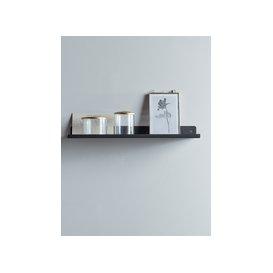 image-Slimline Metal Shelf - Black
