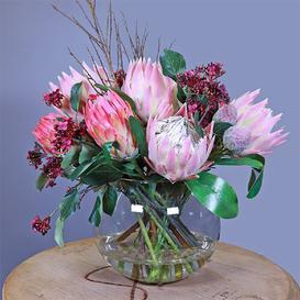 image-King and Queen Protea Floral Arrangement in Vase