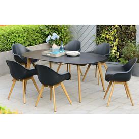 image-Montreux - 6 Seater Dining Set - Black - Lifestyle Garden