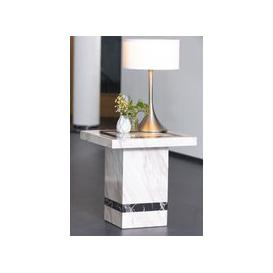 image-Barcelona Cream Marble Side Table