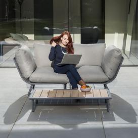 image-Alexander Rose Beach Garden Flint 2 Seater Sofa & Coffee Table Set