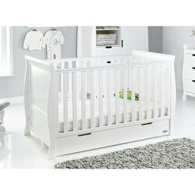 image-Stamford Classic Cot Bed with Breathable Mattress Obaby