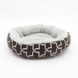 image-Tara Round Cat Bed Archie & Oscar Colour: Chocolate
