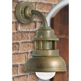 image-Lago1 Light Outdoor Wall Lantern Moretti Luce Finish (mount): Antique brass