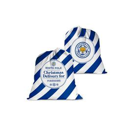 image-Personalised Leicester City FC Christmas Delivery Santa Sack