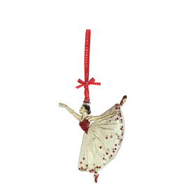 image-Tipperary Crystal Sparkle Ballerina Christmas Hanging Figurine Ornament Tipperary Crystal