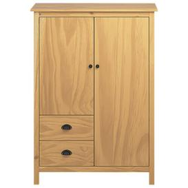 image-Milian 2 Door Corner Wardrobe Brambly Cottage Finish: Brown