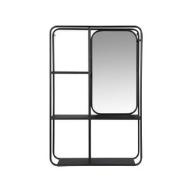 image-Mirrored Two-Tone Shelving Unit