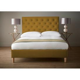 image-Imani Upholstered Bed Frame Ophelia & Co. Colour: Lemon, Size: Single (3')