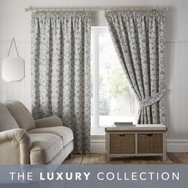 image-Chatsworth Dove Grey Pencil Pleat Curtains Light Grey