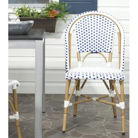 image-Charisse Stacking Dining Chair Dakota Fields Colour: Blue/White