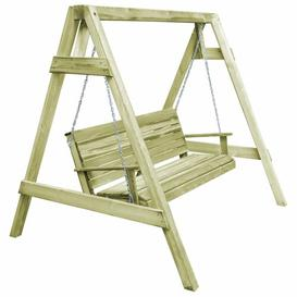 image-Farrow Swing Seat with Stand Union Rustic