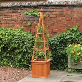 image-Garden Obelisk Wooden Climber Planter