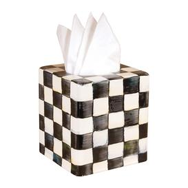image-MacKenzie-Childs - Courtly Check Enamel Tissue Box Cover