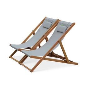 image-Graydon Reclining Folding Deck Chair with Cushion Sol 72 Outdoor Colour: Light Grey