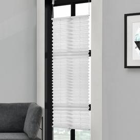image-Symple Stuff Semi-Sheer Pleated Blind Symple Stuff Colour: White, Size: 150cm L x 85cm W