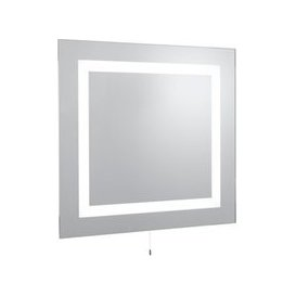 image-Bathroom Two Light Rectangular Wall Mirror