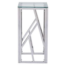 image-Haslemere Glass and Chrome Square Telephone Table