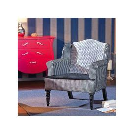 image-Torrent Sofa Chair In Fabric Velvet With Wooden Legs in Black