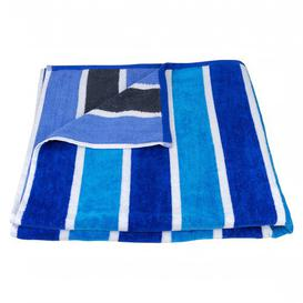 image-Neil Chemical-free and Sustainable Quick Dry Beach Towel Single Piece Breakwater Bay Colour: Blue Stripe