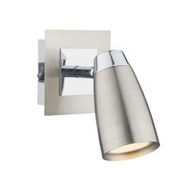 image-Dar LOF0746 Loft 1 Light Mixed Chrome Finish Wall Spotlight