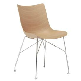 image-Kartell Smartwood Dining Chair, Light Wood