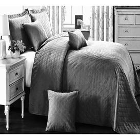 image-Abbate Bedspread Set ClassicLiving Colour: Grey, Size: Super King W270 x L250cm