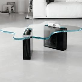 image-Coffee Table Ebern Designs Size: 33cm H x 140cm W x 83cm D, Base Finish: Smoked