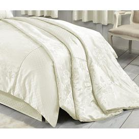 image-Garton Throw Astoria Grand Colour: Ivory, Size: W243 x L264cm