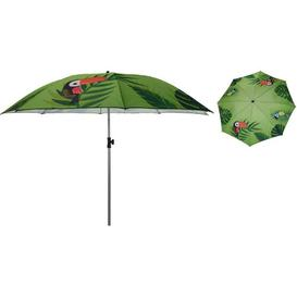 image-Flamingo 1.8m Beach Parasol Freeport Park Fabric Colour: Green