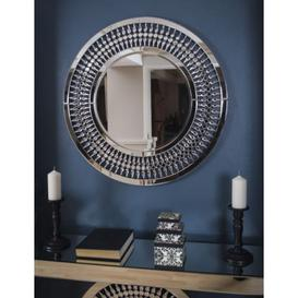 image-Constantia Crystal 3ft Round Glass Mirror