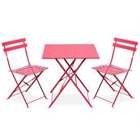 image-Westcliff Folding Thermo- Lacquered Steel Bistro Table Sol 72 Outdoor Colour: Red