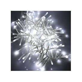 image-280, 480, 720, 960, 2000 Multifunction LED Christmas Cluster Lights with Timer and Clear Cable - White [2000]