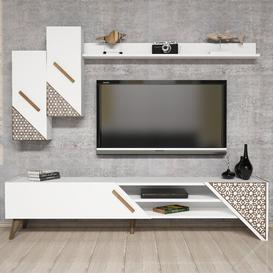 "image-Fina Entertainment Unit for TVs up to 70"" Brayden Studio Colour: White"